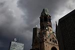 Kaiser Wilhelm Church, bombed in WWII, Berlin, Germany