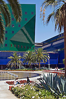 Pacific, Design, Center, West, Hollywood, CA, Blue, Whale, Fountains,  Clear Sunny Day