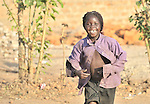 A girl in Yei, Southern Sudan.