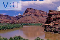 Mesa along Colorado River Colorado River Gorge, Canyon Rims Recreation Area, Utah