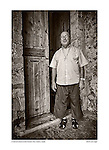 Parish priest, Convent of St. Bernard, Petra, Mallorca, Spain by Larry Angier.
