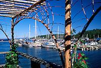 Lund, BC, British Columbia, Canada - Boats docked in Marina along 'Sunshine Coast' - Terminus of Highway 101
