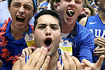 04 November 2016: Cameron Crazies, Duke's fans. The Duke University Blue Devils hosted the Augustana University Vikings at Cameron Indoor Stadium in Durham, North Carolina in a 2016-17 NCAA Division I Men's Basketball exhibition game.