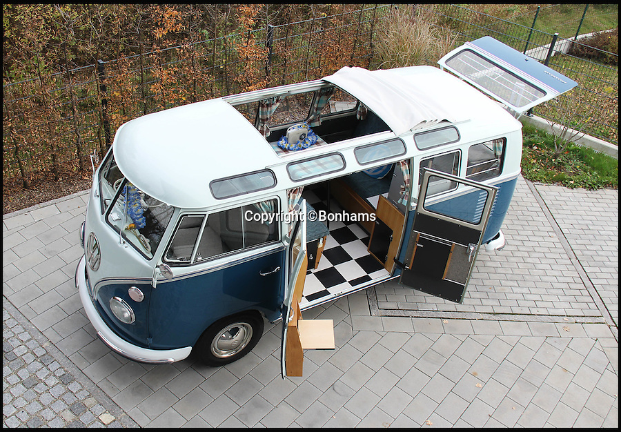 BNPS.co.uk (01202 558833)<br /> Pic: Bonhams/BNPS<br /> <br /> This classic Volkswagen campervan is set to become most expensive ever sold in the UK - because it comes with a staggering &pound;100,000 price tag.<br /> <br /> The plush 51-year-old motor has been so well restored that it looks like it did the day it left the factory in December 1964, experts say.<br /> <br /> The priciest ever to sell in the UK was also last year when London auction house Bonhams sold a 1962 Devon Samba for &pound;91,000.<br /> <br /> But experts at Bonhams have tipped this VW to sell for UK record &pound;100,000 when it goes under the hammer