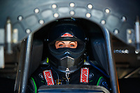 Mar 18, 2017; Gainesville , FL, USA; NHRA funny car driver Alexis DeJoria during qualifying for the Gatornationals at Gainesville Raceway. Mandatory Credit: Mark J. Rebilas-USA TODAY Sports