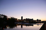 South Bend, IN skyline:  St. Joseph River, Century Center, and Chase Bank Building...Photo by Matt Cashore..Use of this image prohibited without authorization and/or compensation..To contact Matt Cashore:.574.220.7288.574.233.6124.cashore1@michiana.org.www.mattcashore.com