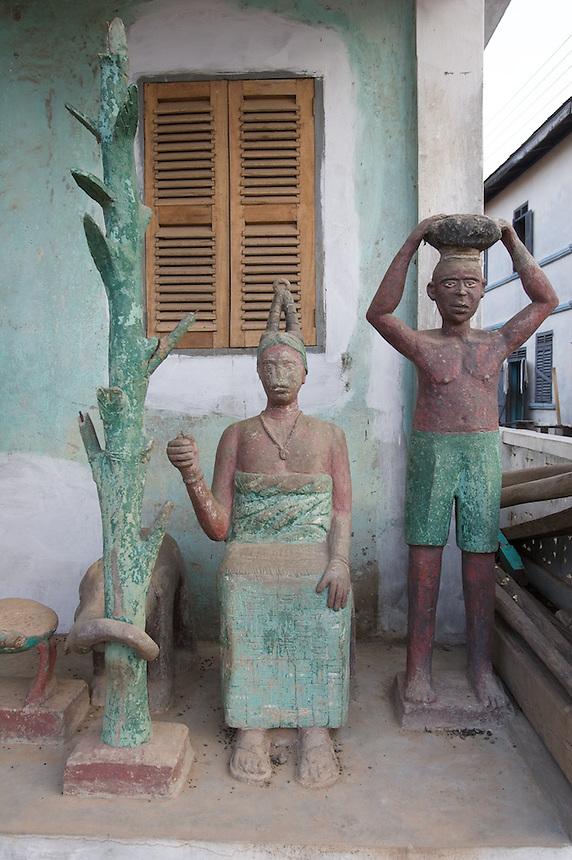 Posuban shrine, Elmina, Ghana.Photograph by Peter E. Randall