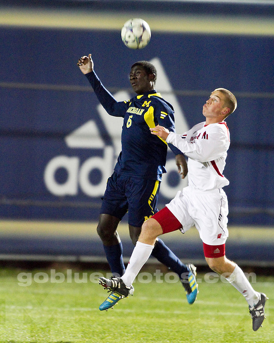 The University of Michigan men's soccer team lost to Wisconsin, 2-0, in the opening round of the Big Ten Tournament at the UM Soccer Complex in Ann Arbor, Mich., on November 9, 2011.
