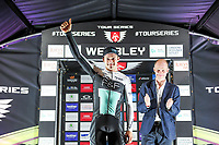 Picture by Simon Wilkinson/SWpix.com - 16/05/2017 - Cycling - Tour Series Round 4, Wembley - One Pro Cycling's Steele Von Hoff takes the podium  win at the Tour Series GP at Wembley.