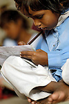 Safina Karamad studies in a school for poor children held in St. Mathew's Church in the Punjab village of Bajasinsingh. This school is sponsored by the Church of Pakistan.
