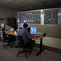 La sala di controllo della centrale idroelettrica Taccani a Trezzo...Control panel of hydroelectric plant Taccani in Trezzo