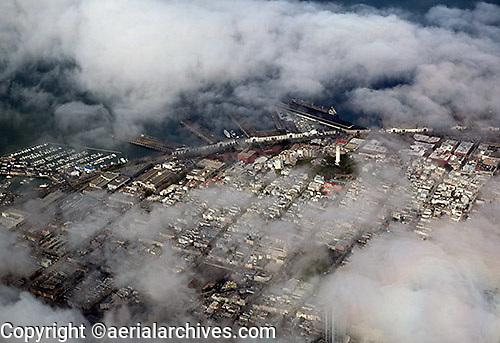 aerial photograph Telegraph Hill Coit Tower San Francisco, California
