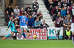 Hearts v St Johnstone...02.08.15   SPFL Tynecastle, Edinburgh<br /> Callum Paterson scores to make it 3-1 to Hearts<br /> Picture by Graeme Hart.<br /> Copyright Perthshire Picture Agency<br /> Tel: 01738 623350  Mobile: 07990 594431