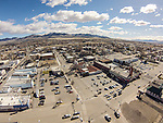 Winnemucca Convention Center and downtown from the DJI Phantom quadcopter and GoPro 3 camera. <br /> <br /> Demo flights of the DJI Phantom quadcopter with GoPro 3 camera for Shooting the West XXVI