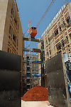 Construction work in the Solidere district of Beirut, Lebanon