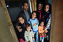 TRAUMA HEALING CASE STUDIES IN LEBANON . REFUGEE FAMILY OF MOUSA AND FATHIA. CHILDREN ASRAA, 10, WISSAM, 4, AZZAM, 11, MYSAA, 6, AND MARIAM, 12   IN THE TRIUMPHANT MERCY REFUGEE CAMP, ZAHLE, CLOSE TO THE SYRIAN BORDER, IN LEBANON. 20/04/16, PHOTO BY CLARE KENDALL.