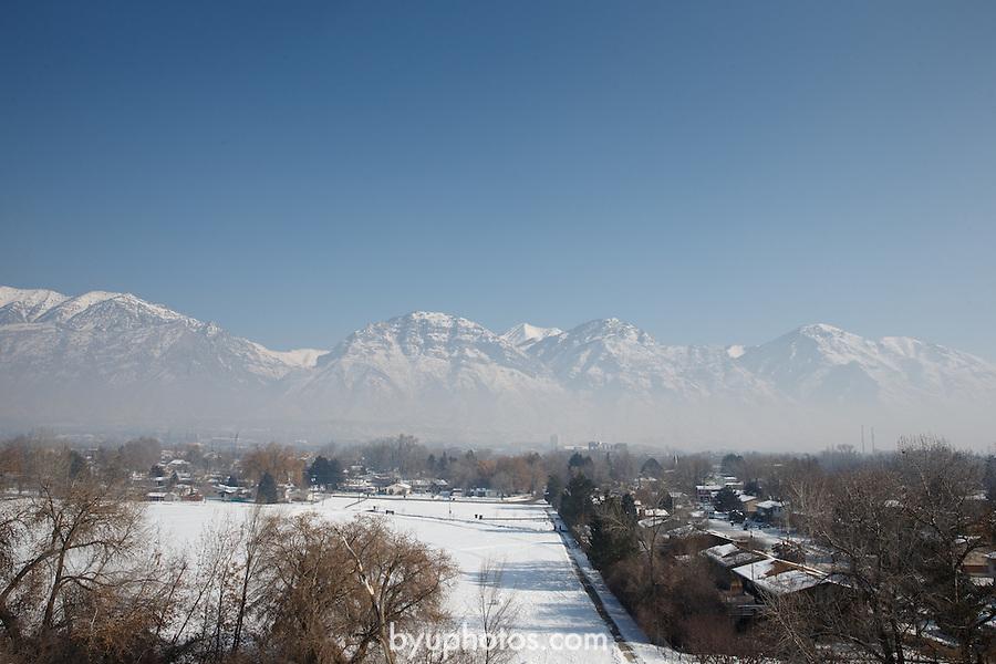 1301-20 068<br /> <br /> 1301-20 Utah Valley Inversion<br /> <br /> For Professor Arden Pope<br /> <br /> January 22, 2013<br /> <br /> Photo by Jaren Wilkey/BYU<br /> <br /> &copy; BYU PHOTO 2013<br /> All Rights Reserved<br /> photo@byu.edu  (801)422-7322