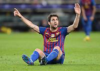 FUSSBALL   CHAMPIONS LEAGUE  HALBFINAL-RUECKSPIEL   2011/2012      FC Barcelona - FC Chelsea       24.04.2012 Cesc Fabregas (Barca)  enttaeuscht