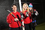 Drink Awareness Wales.Carmarthen Hockey Club.Kate Williams, Ruby Breeze & Gwenno Davies...04.12.12..©Steve Pope