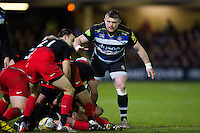 David Wilson of Bath Rugby looks on. Aviva Premiership match, between Bath Rugby and Saracens on April 1, 2016 at the Recreation Ground in Bath, England. Photo by: Patrick Khachfe / Onside Images