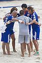 Japan team group (JPN), SEPTEMBER 4, 2011 - Beach Soccer : FIFA Beach Soccer World Cup Ravenna-Italy 2011 Group D match between Ukraine 4-2 Japan at Stadio del Mare, Marina di Ravenna, Italy, (Photo by Enrico Calderoni/AFLO SPORT) [0391]