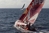 FRANCE,  Point Penmarc'h. 1st July 2012. Volvo Ocean Race, Leg 9 Lorient-Galway.  Camper with Emirates Team New Zealand.