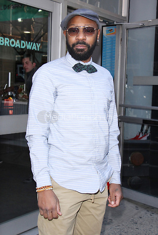 NEW YORK, NY - APRIL 14: Nelsan Ellis seen after an appearance on AOL's Build Series in New York City on April 14, 2017. Credit: RW/MediaPunch