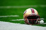 30 November 2008:  A San Francisco 49ers' helmet lies at the sidelines prior to a game against the Buffalo Bills at Ralph Wilson Stadium in Orchard Park, NY. The 49ers defeated the Bills 10-3. ***** Editorial Use Only ******..Mandatory Photo Credit: Ed Wolfstein Photo