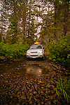 Driving the 4x4 road into Gold Lake, Lakes Basin, California.