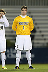 25 October 2013: Wake Forest's Andrew Harris. The Duke University Blue Devils hosted the Wake Forest University Demon Deacons at Koskinen Stadium in Durham, NC in a 2013 NCAA Division I Men's Soccer match. The game ended in a 2-2 tie after two overtimes.