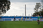 Concord Rangers 0 Hayes and Yeading United 3, 17/10/2015. Thames Road, Football Conference South. Concord Rangers in play host to Hayes and Yeading United in a Conference South League match. The match was won by the away side by 3 goals to 0. Thames Road Stadium is sandwiched between Thorney Bay caravan park and Calor gas works on Canvey Island. Photo by Simon Gill