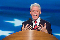 CHARLOTTE, NC - September 5, 2012 - Remarks by President Bill Clinton 42nd President of the United States at the 2012 Democratic National Convention.