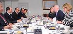 Egypt's President Abdel Fattah al-Sisi meets with US Defense Secretary James Mattis at the Pentagon, in Washington, United States on April 5, 2017. Photo by Egyptian President Office