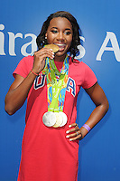 FLUSHING NY- AUGUST 27: Simone Manuel attends Arthur Ashe kids day at the USTA Billie Jean King National Tennis Center on August 27, 2016 in Flushing Queens. Photo byMPI04 / MediaPunch