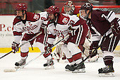 Danny Biega (Harvard - 9), Colin Blackwell (Harvard - 63), Billy Rivellini (Colgate - 7) - The Harvard University Crimson defeated the Colgate University Raiders 4-1 (EN) on Friday, February 15, 2013, at the Bright Hockey Center in Cambridge, Massachusetts.