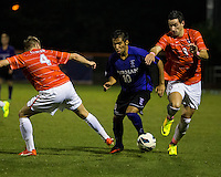 The number 24 ranked Furman Paladins took on the number 20 ranked Clemson Tigers in an inter-conference game at Clemson's Riggs Field.  Furman defeated Clemson 2-1.  Manolo Sanchez (8), Martin Ontiveros (10), Jack Metcalf (4)