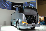 Photo shows the Fuso Canter Eco-Hybrid truck at the Tokyo Motor Show. Photographer: Robert Gilhooly
