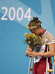 Stephanie Dixon obtient une médaille d'argent au 200 mètres quatre fois quatre nages individuel.  (Jean-Baptiste Benavent 23 septembre).