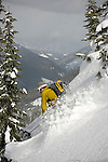 Back country ski touring near Steven's Pass, Washington.