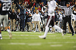 The Ole Miss bench celebrates a fumble recovery vs. Texas A&amp;M at Vaught-Hemingway Stadium in Oxford, Miss. on Saturday, October 6, 2012. Texas A&amp;M rallied from a 27-17 4th quarter deficit to win 30-27.