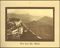 BNPS.co.uk (01202 558833)<br /> Pic: Tooveys/BNPS<br /> <br /> The view from Mount Kellet.<br /> <br /> A fascinating set of early images of Hong Kong long before it became the metropolis it is today have surfaced. <br /> <br /> The black and white photographs dating to the early 20th century depict a region unrecognisable to what stands today. <br /> <br /> There are several shots of natives walking down packed low-rise streets while a number of others picture primitive sailing boats. <br /> <br /> The collection was compiled by adventurous British photographer Denis H. Hazell, who took each of the 26 postcard-like photos.