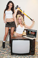 NO REPRO FEE. 31/1/2010. The launch of Magnet Networks' free online TV service. Models Jenny Lee Masterson and Georgia Salpa are pictured at the Morrisson Hotel, Dublin for the  launch of Magnet Networks' free online TV service. The no-strings-attached service offers RTE1, RTE 2, TV3, TG4 and 3e for free, when you log on to magnetwebtv.ie using your PC and register. For a monthly fee of EUR3.99, a total of 21 channels are offered to Magnet broadband subscribers, including BBC's full range of channels, MTV, VH1 and kids channels Nickelodeon, Nick Toons and Nick Junior. To sign up log onto www.magetwebtv.ie