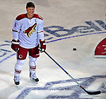 24 January 2009: Phoenix Coyotes right wing forward Shane Doan smiles at center ice in winning the Elimination Shootout of the NHL SuperSkills Competition, during the All-Star Weekend at the Bell Centre in Montreal, Quebec, Canada. ***** Editorial Sales Only ***** Mandatory Photo Credit: Ed Wolfstein Photo