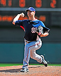 12 March 2009: Washington Nationals' pitcher Steven Shell on the mound during a Spring Training game against the Atlanta Braves at Disney's Wide World of Sports in Orlando, Florida. The Braves defeated the Nationals 6-2 in the Grapefruit League matchup. Mandatory Photo Credit: Ed Wolfstein Photo