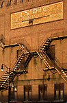 The Lyric Theater sign is still visibile on the wall of the closed theater that was constructed in 1914.