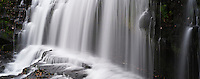 Sgwd Isaf Clun-Gwyn waterfall on Mellte river, Brecon Beacons national park, Wales