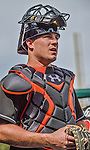 28 September 2014: Miami Marlins catcher Jacob Realmuto walks the dugout prior to facing the Washington Nationals for the last game of the regular season at Nationals Park in Washington, DC. The Nationals shut out the Marlins with a 1-0 no-hitter going to Nationals pitcher Jordan Zimmermann. Mandatory Credit: Ed Wolfstein Photo *** RAW (NEF) Image File Available ***