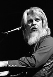 """Leon Russell, March 3, 1981, Great American Music Hall, San Francisco. American singer-songwriter, pianist, and guitarist first best known as a session player who played on hundreds of songs by some of the biggest names in popular music, including B.B. King, George Harrison, Eric Clapton, Bob Dylan. With his own band. During 1972, his album """"Carney"""" scored #2 on the U.S. Charts"""