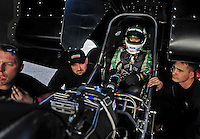 Jan 24, 2009; Chandler, AZ, USA; NHRA funny car driver Ashley Force during testing at the National Time Trials at Firebird International Raceway. Mandatory Credit: Mark J. Rebilas-