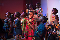 """NWA Democrat-Gazette/J.T. WAMPLER The United Lutheran Church of Bella Vista presents the Watoto children's choir from Uganda performing Thursday Feb. 25, 2016 their show, """"Oh, What Love."""" Children in the choir have lost one or both parents to the AIDS epidemic or war."""
